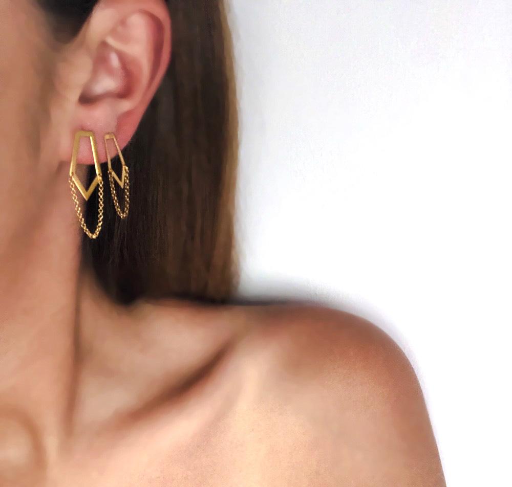 Tie Earrings (Small)