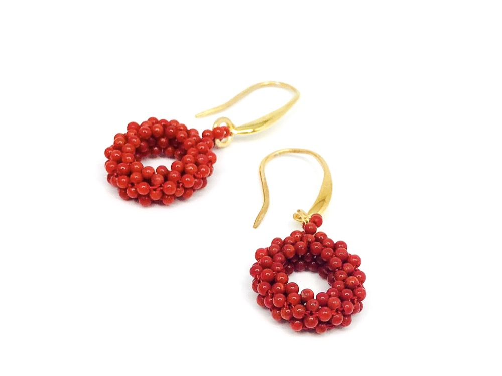 Coral Bamboo Earrings